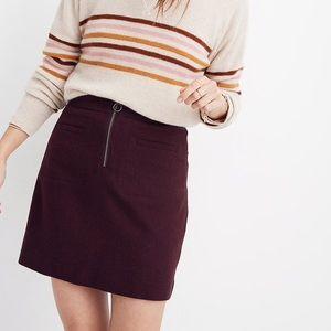 Madewell Wool Mini Skirt